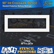 """Pavement Stencils - 90 inch - INTERNATIONAL CROSSWALK - For Pedestrian Traffic - 90"""" x 24"""""""