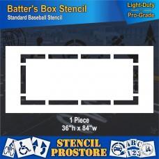 "Athletic Marking - 36 inch -BASEBALL BATTERS BOX Stencil - 36"" x 84"""