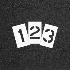 Curb and Median Pavement Stencils - 2 in - NUMBER KIT STENCIL SET