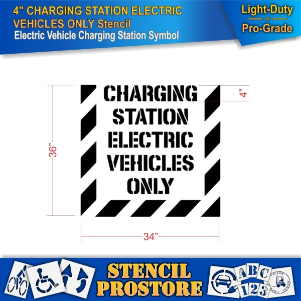 Parking Lot Stencils 4 In Charging Station Electric