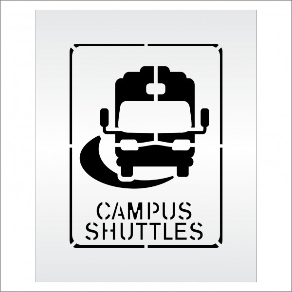 Parking Lot Stencils 24 In Bus Sign Campus Shuttles