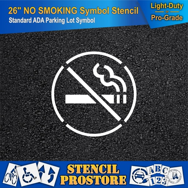 Parking Lot Stencils 26 In No Smoking Icon 29 X 29