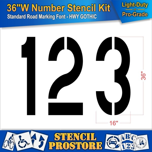 1//16 Thick Piece 60 Mil - LDPE American Striping Co. 36 Slow Stencil Parking Lot Stencil 1 Wider 16 Letters