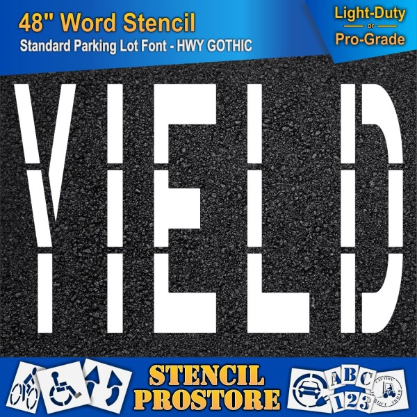 Pavement Marking Stencils 48 Inch Yield Stencil 48 Quot X 76 Quot