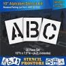 """Pavement Stencils - 10 inch ALPHABET KIT STENCIL SET - (28 Piece) - 10"""" x 7.5"""""""