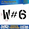 """Pavement Stencils -10 inch MEGA ALPHA/NUM SET - (64 Piece) - 10"""" x 7.5"""""""