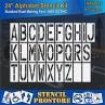"""Pavement Stencils - 24 inch ALPHABET KIT STENCIL SET - (28 Piece) - 24"""" x 9"""""""