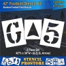 """Athletic Marking - 42 inch - FOOTBALL FIELD NUMBER Stencils - (8 Piece) - 42"""" x 30"""""""