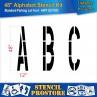 """Pavement Stencils - 48 inch ALPHABET KIT STENCIL SET - (28 Piece) - 48"""" x 12"""""""