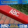 "Curb & Median Stencils - 4 inch MEGA ALPHA/NUM SET - (64 Piece) - 4"" x 3"""