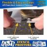 "Curb and Median Stencils - 4 inch ALPHABET KIT STENCIL SET - (28 Piece) - 4"" x 3"""